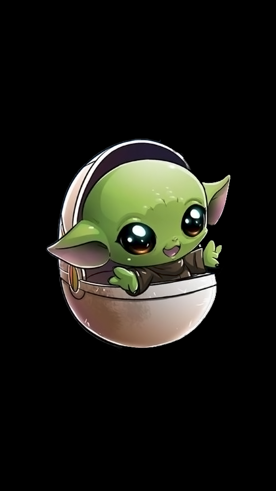 "The child ""Baby Yoda"" background wallpapers Gwiezdne"