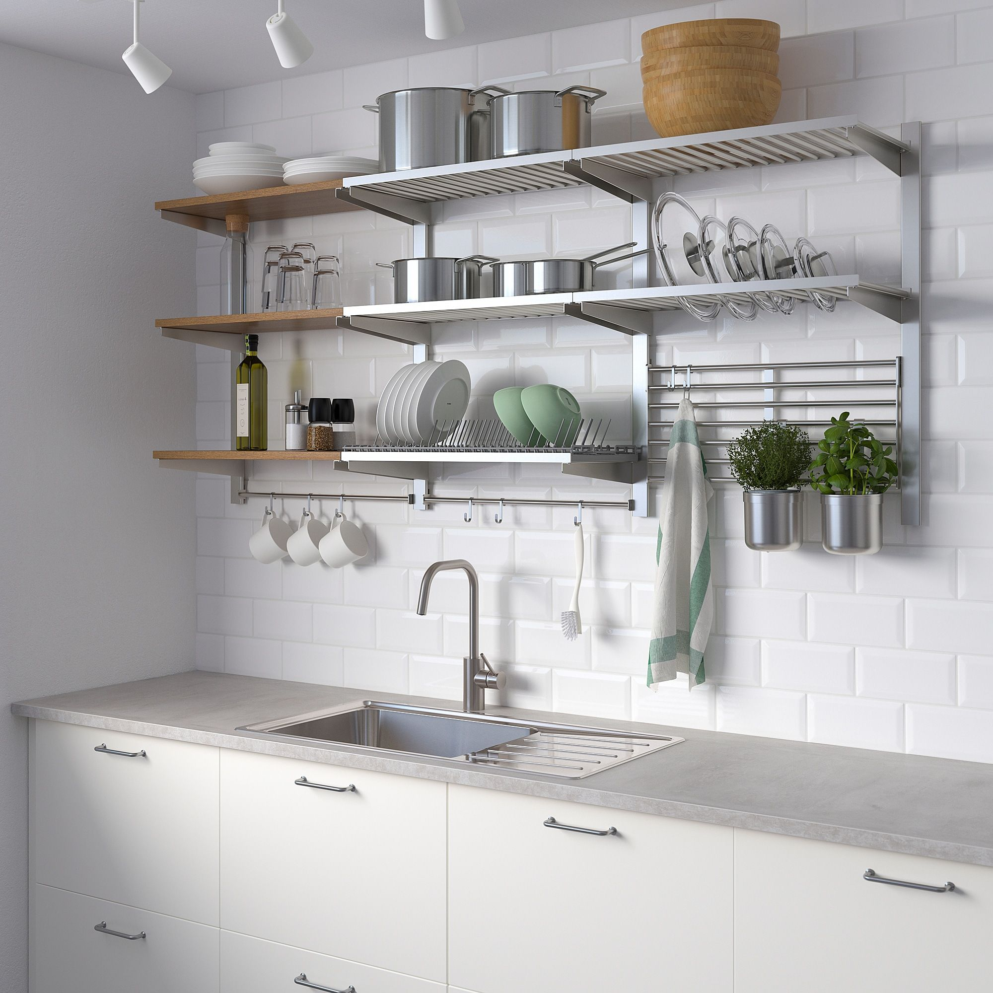 Ikea Kungsfors Susp Rail Shlf Dish Dra Rail Wll Gr Kitchen Remodel Kitchen Cabinets Kitchen Design