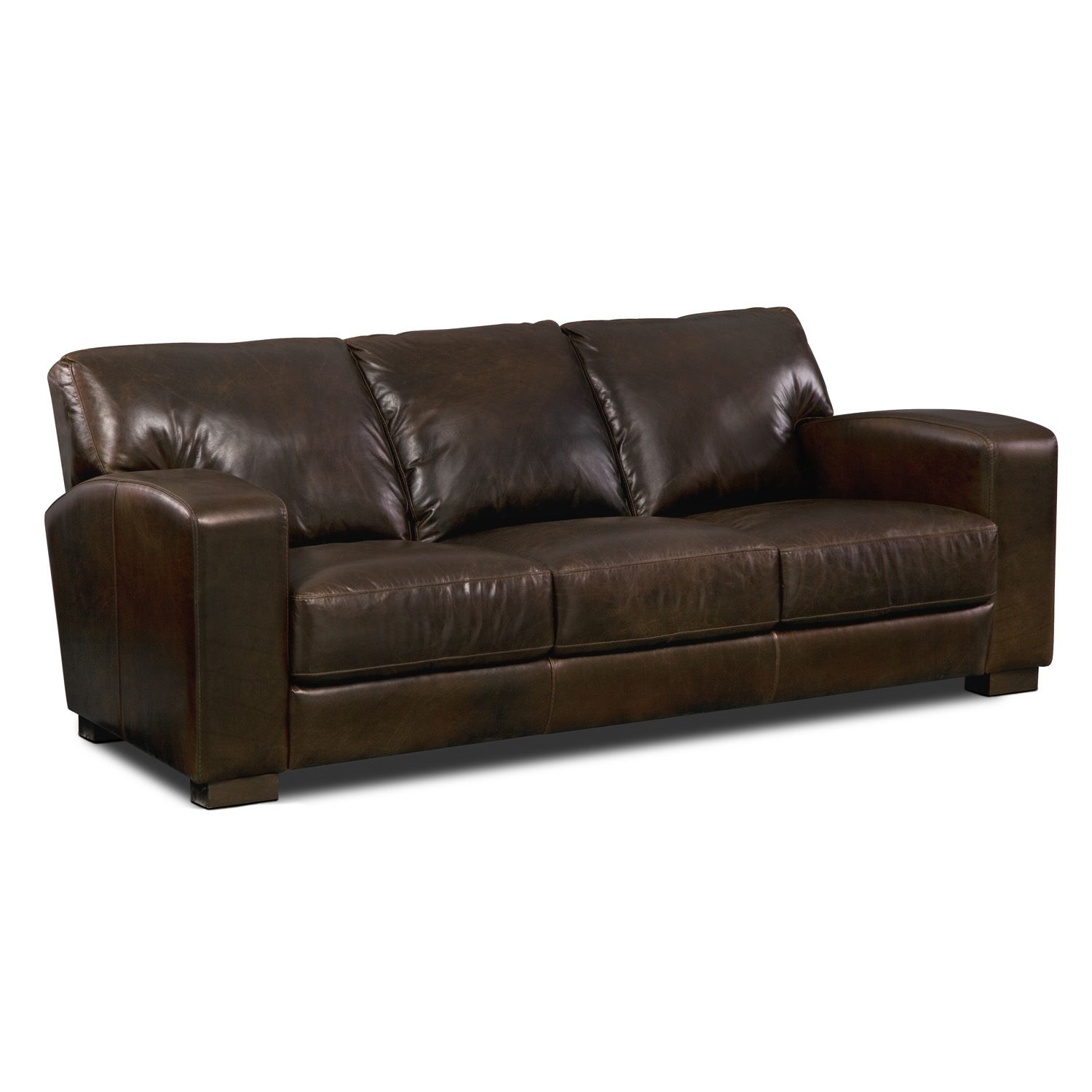 American Signature Furniture Grayson Leather Sofa