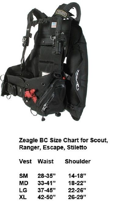 Buoyancy compensators zeagle stiletto bcd size large ships worldwide authorized dealer also with the ripcord rh pinterest