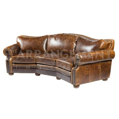 havertys distressed leather nailhead large sofa   Pin on Living Room Furniture and Home Decor