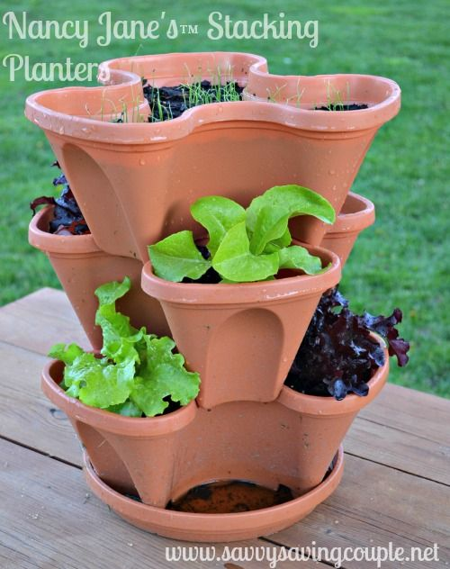 Nancy Jane Vertical Gardening Stacking Planters Review Vertical