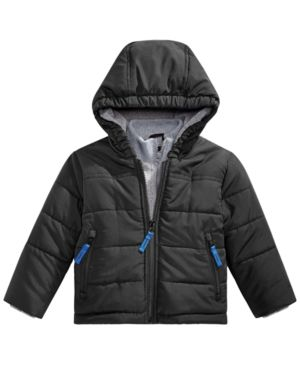 162a51b65 S. Rothschild Baby Boys Hooded Layered-Look Puffer Jacket - Black 3 ...