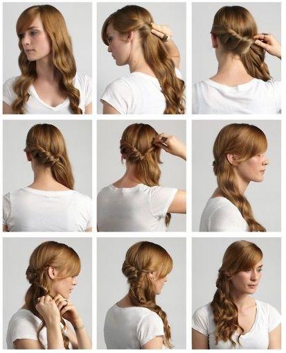 Peinado Con Torzadas Http Www Peinando Com Peinado Con Torzadas Peinados Faciles Pelo Corto Trenza Cascada Paso A Paso Peinados