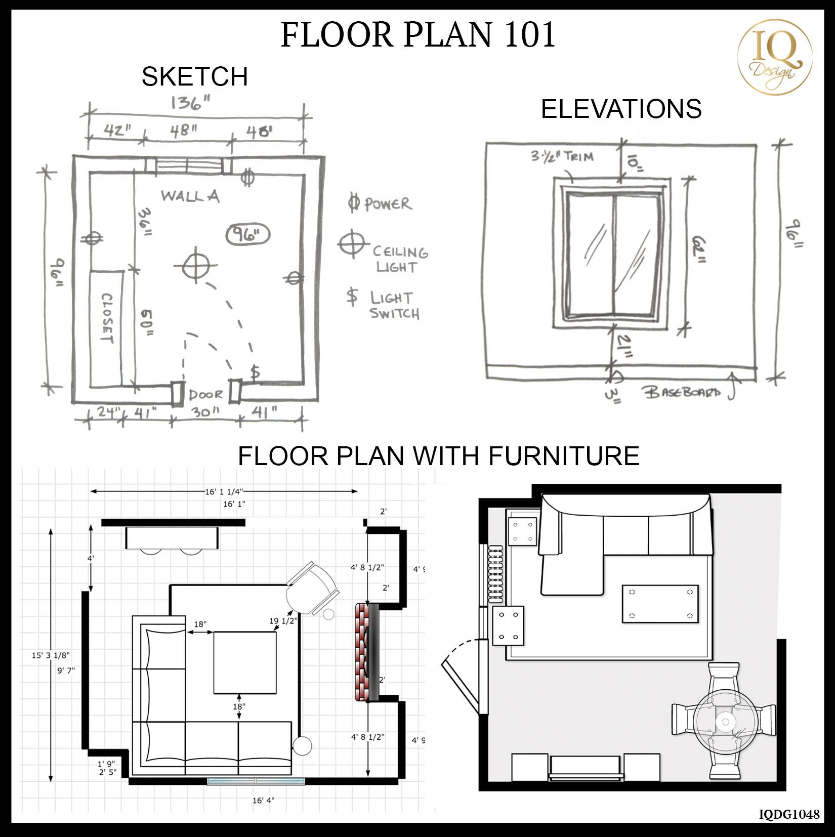 Floor Plan 101 Tips To Help You Measure For A Room Makeover Iq Design Living Room Floor Plans Floor Plans Room Makeover