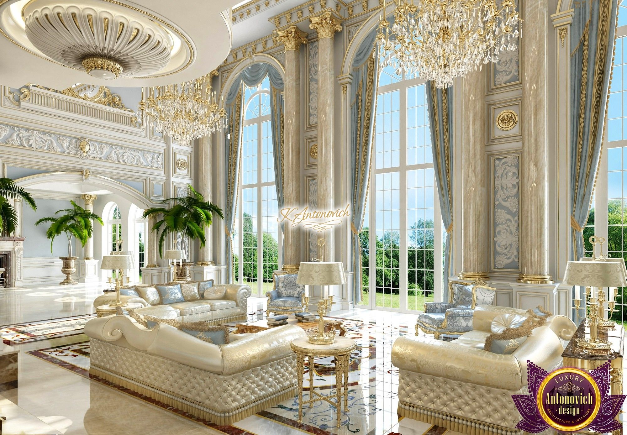 Best villa design antonovich luxury home decor home - House interior design pictures living room ...
