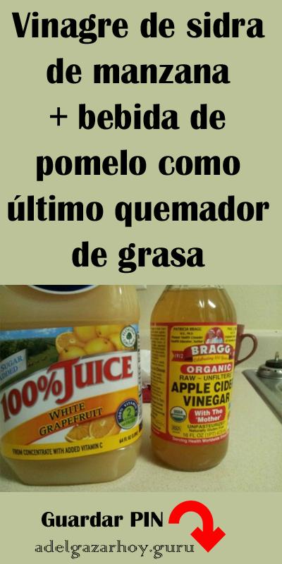Bajar de peso con vinagre de sidra de manzana