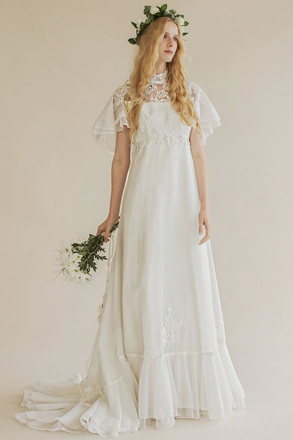 8592fc4320d The 6 Prettiest 70s Inspired Wedding Dresses Princessly Press