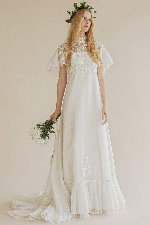 Original Vintage 70s Wedding Dress