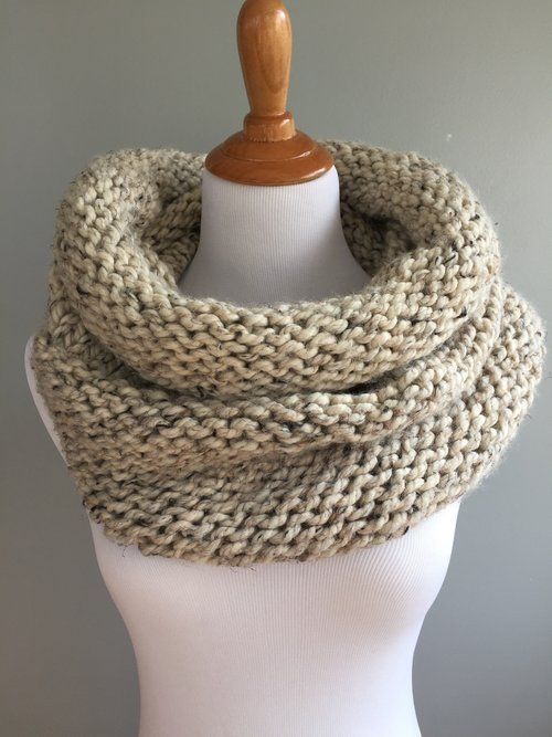 Simple Knit And Purl Cowl Pattern Projects To Try Pinterest