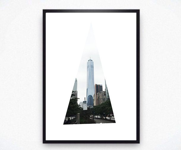 NYC Print, New York Geometric Art, New York Photography, NYC Poster, NY
