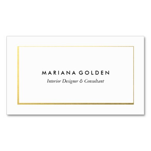 Gold Border on White Business Card Template. Make your own business card with this great design. All you need is to add your info to this template. Click the image to try it out!