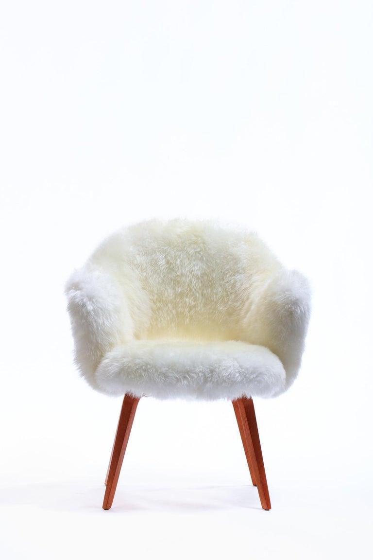 Vintage Sheepskin Eero Saarinen for Knoll Executive Chair
