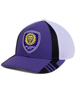 adidas Orlando City Sc Authentic Team Flex Cap - Purple/White L/XL