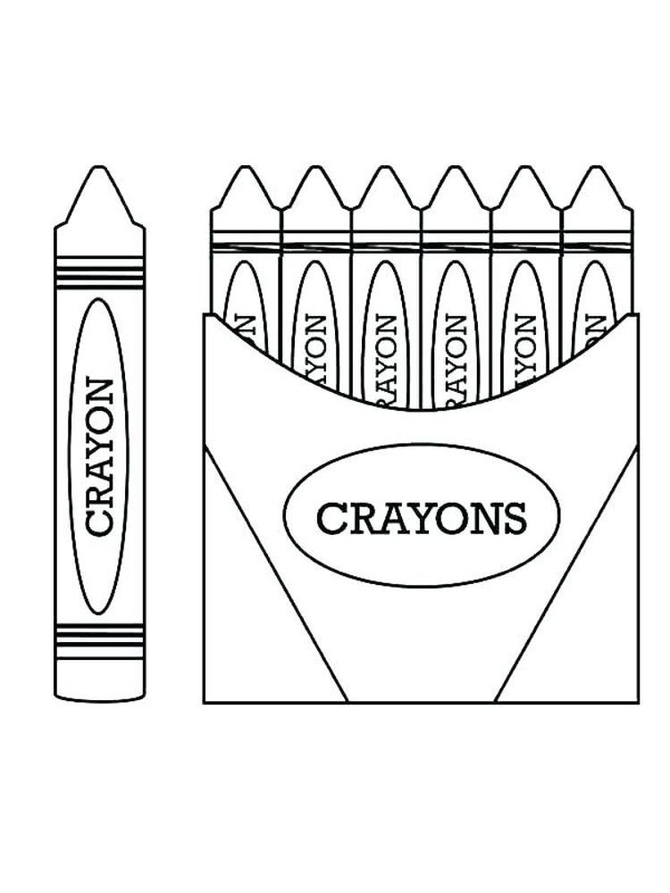 Free Printable Crayon Coloring Pages Di 2020