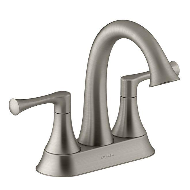 Kohler Lilyfield Bathroom Faucet 2 Handles Brushed Nickel K