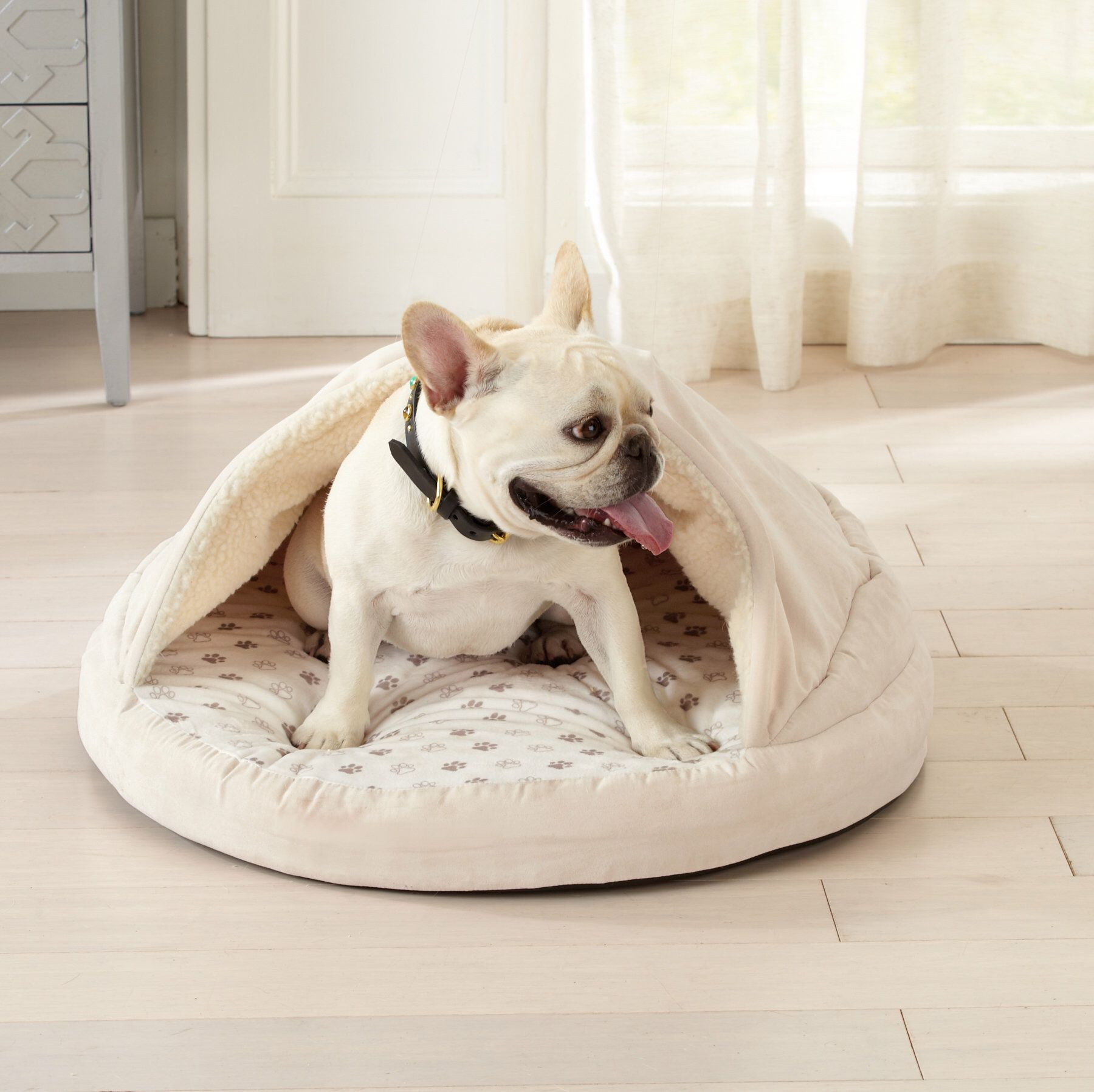 Juanita Cuddle Cave Dog Dome With Cover And Blanket Stylish Dog