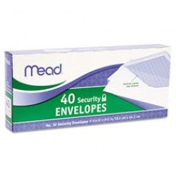 Mead No. 10 Security Envelope, 40 Ct.
