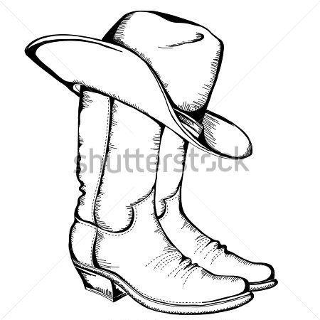 Cowboy Boot Clip Art Botas De Cauboi E Ilustracao Vetorial Clip