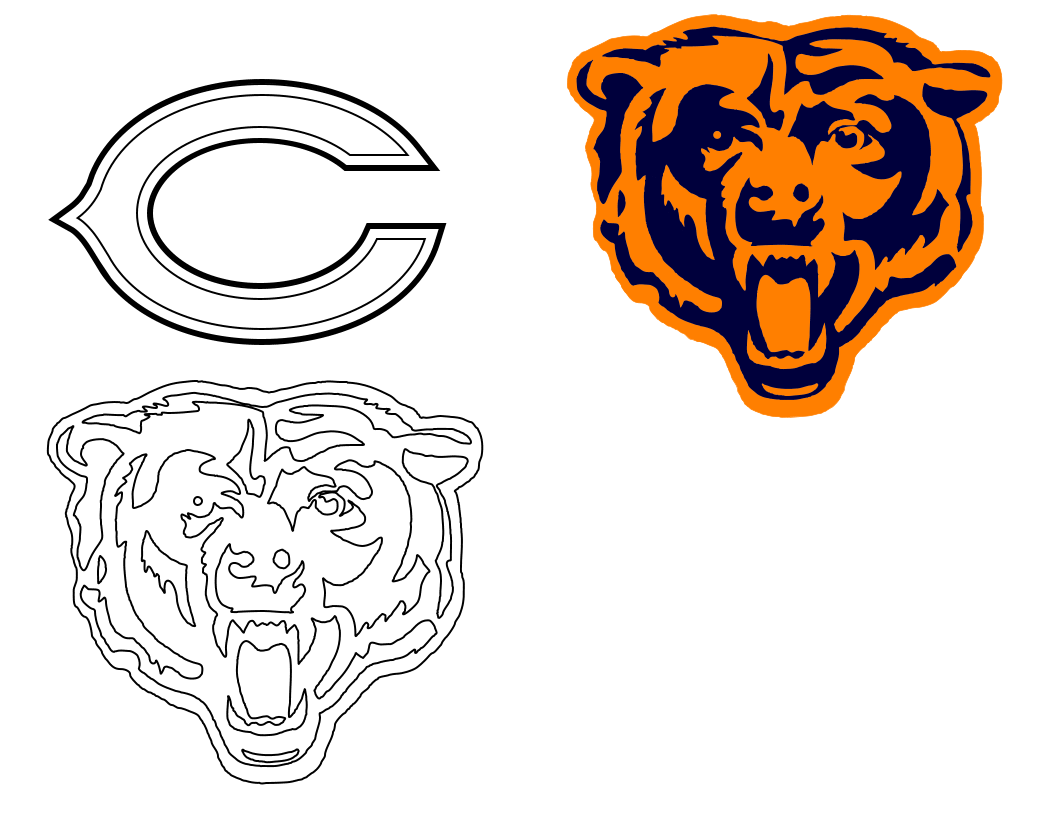 Chicago Bears Logo Tattoo Stencils | Bears fanatic!! | Pinterest