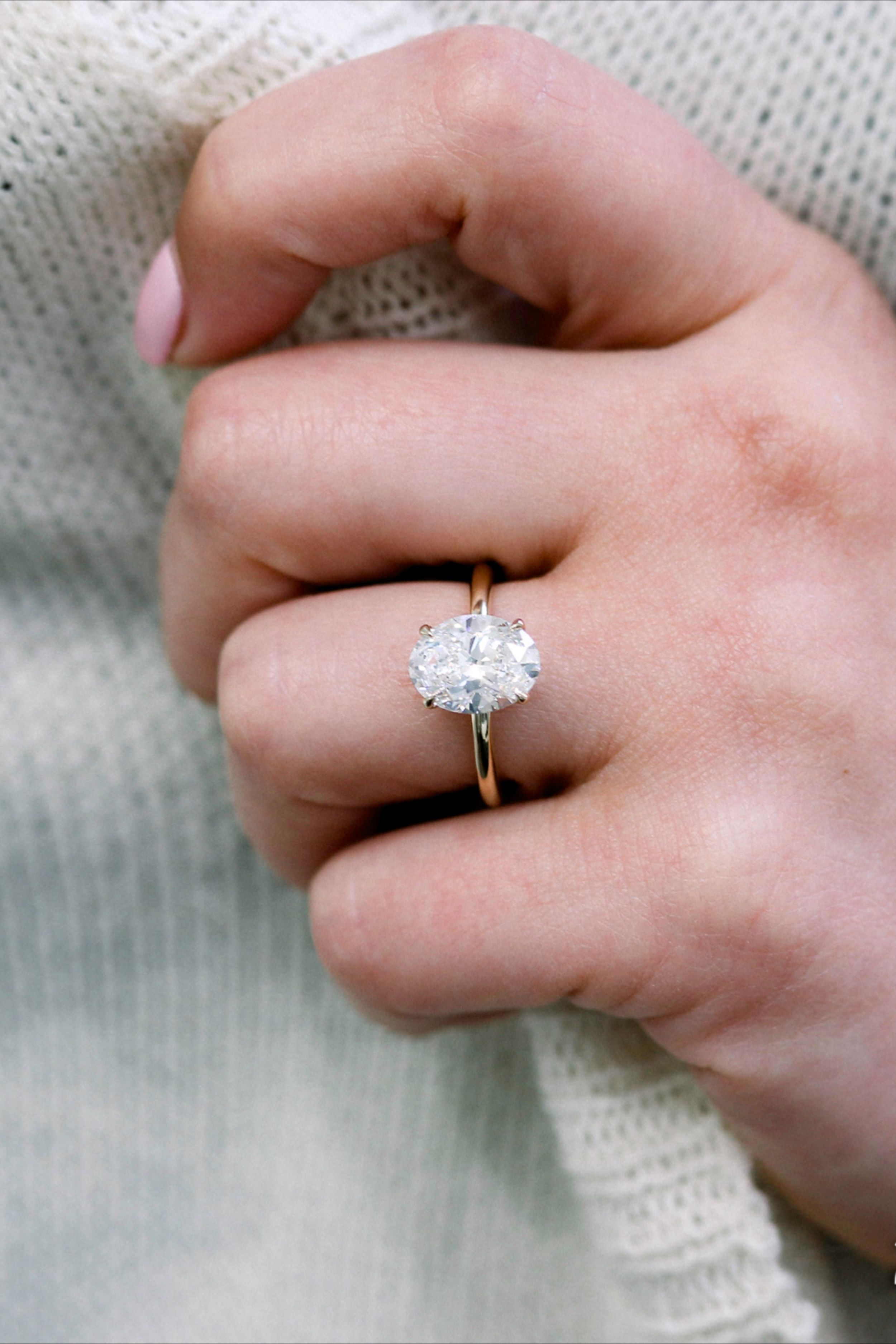 Details about  /1.35CT Oval Cut Diamond 14K Rose Gold Over Wedding Engagement Women Pretty Ring