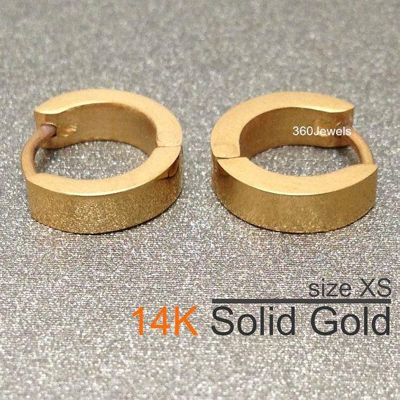 Extra Small Huggie Hoop Earrings 14k Real Solid By 360jewelselite