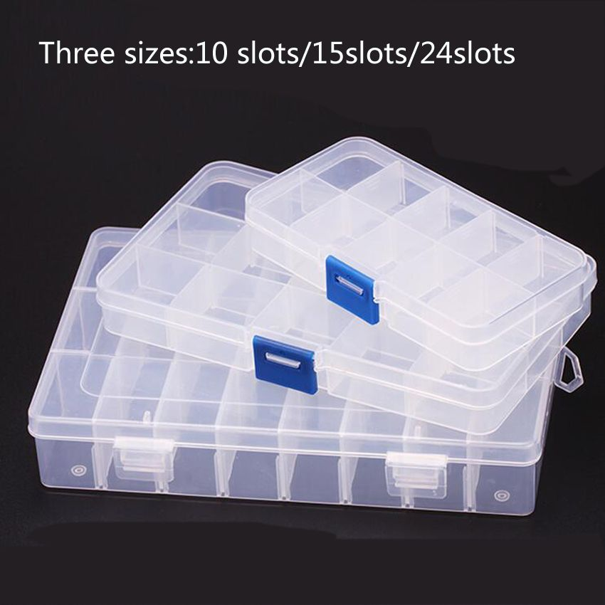 15 Slots Cells Portable Tool Box Electronic Parts Screw Beads Ring Jewelry Component Box Plastic Storage Box Container Holde