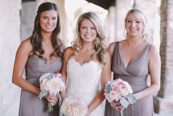 Blush, Cream, and Succulent San Juan Capistrano Wedding | Strapless ...