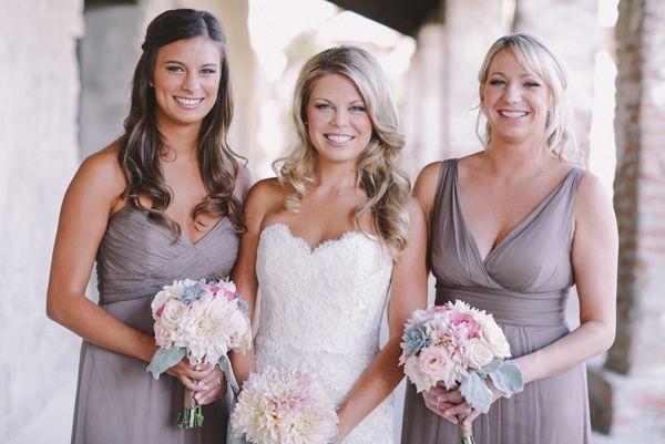 Blush Wedding Dresses for Bridesmaids