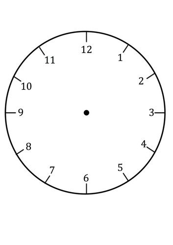 Free Printable Clock Face Template For Learning To Tell The Time