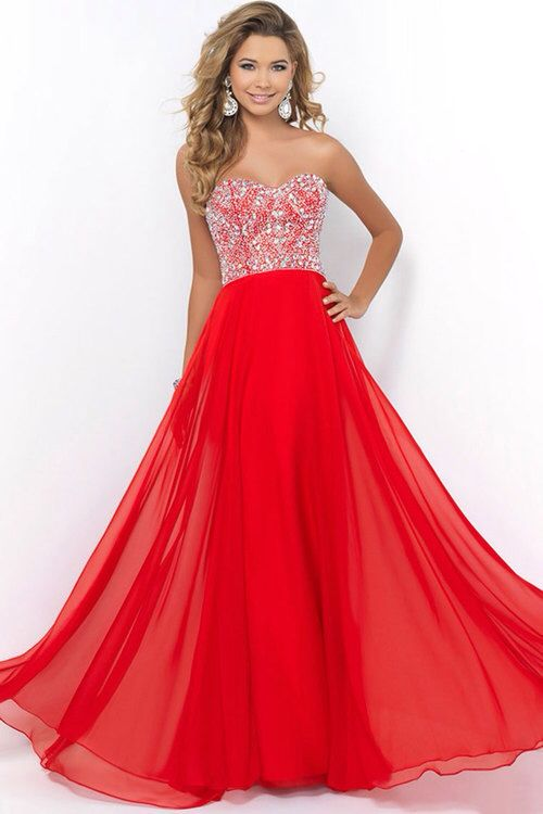 Red proms dress with bedazzled top | Prom | Pinterest | Prom
