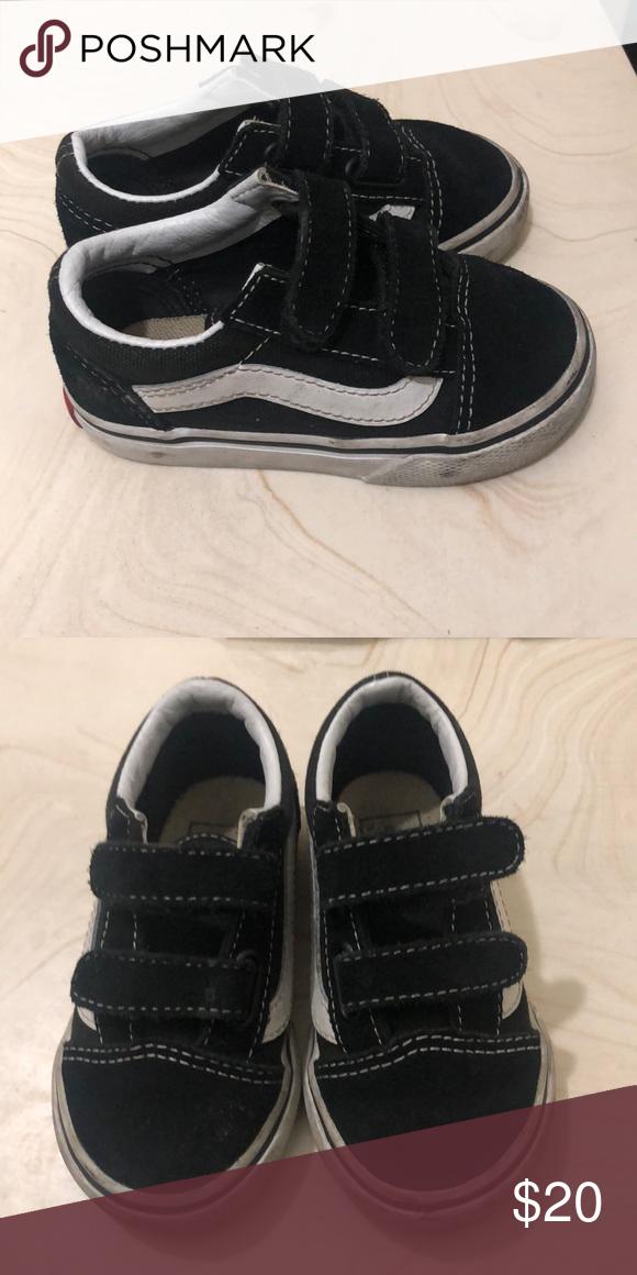 7c57eefb0e ✅Vans Black and white vans Size 6 boys Vans Shoes Sneakers
