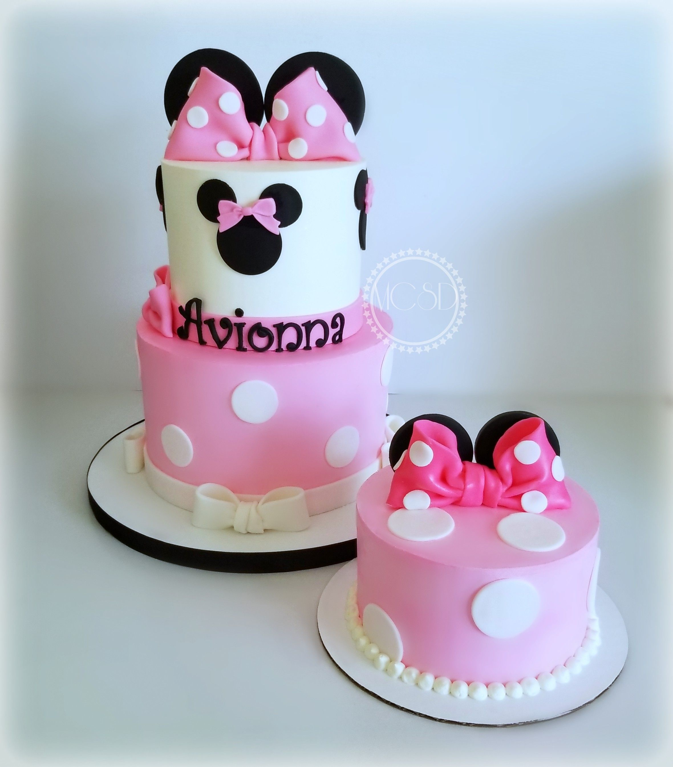Swell Minnie Mouse 1St Birthday Smash Cake With Images Mickey And Personalised Birthday Cards Veneteletsinfo