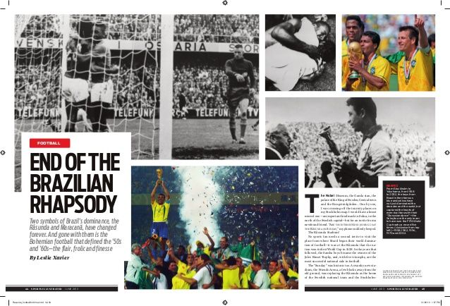 Sports Illustrated: The End Of The Brazilian Rhapsody Mirrors The Changes In Brazil's Society (Football World Cup) by thoughtles via slideshare