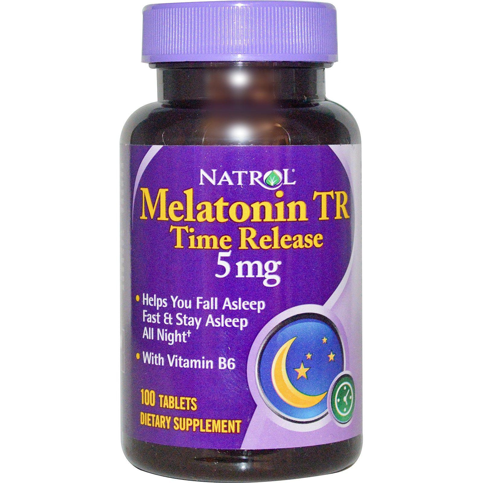Natrol, Melatonin, Time Release, Extra Strength, 5 mg, 100 ...