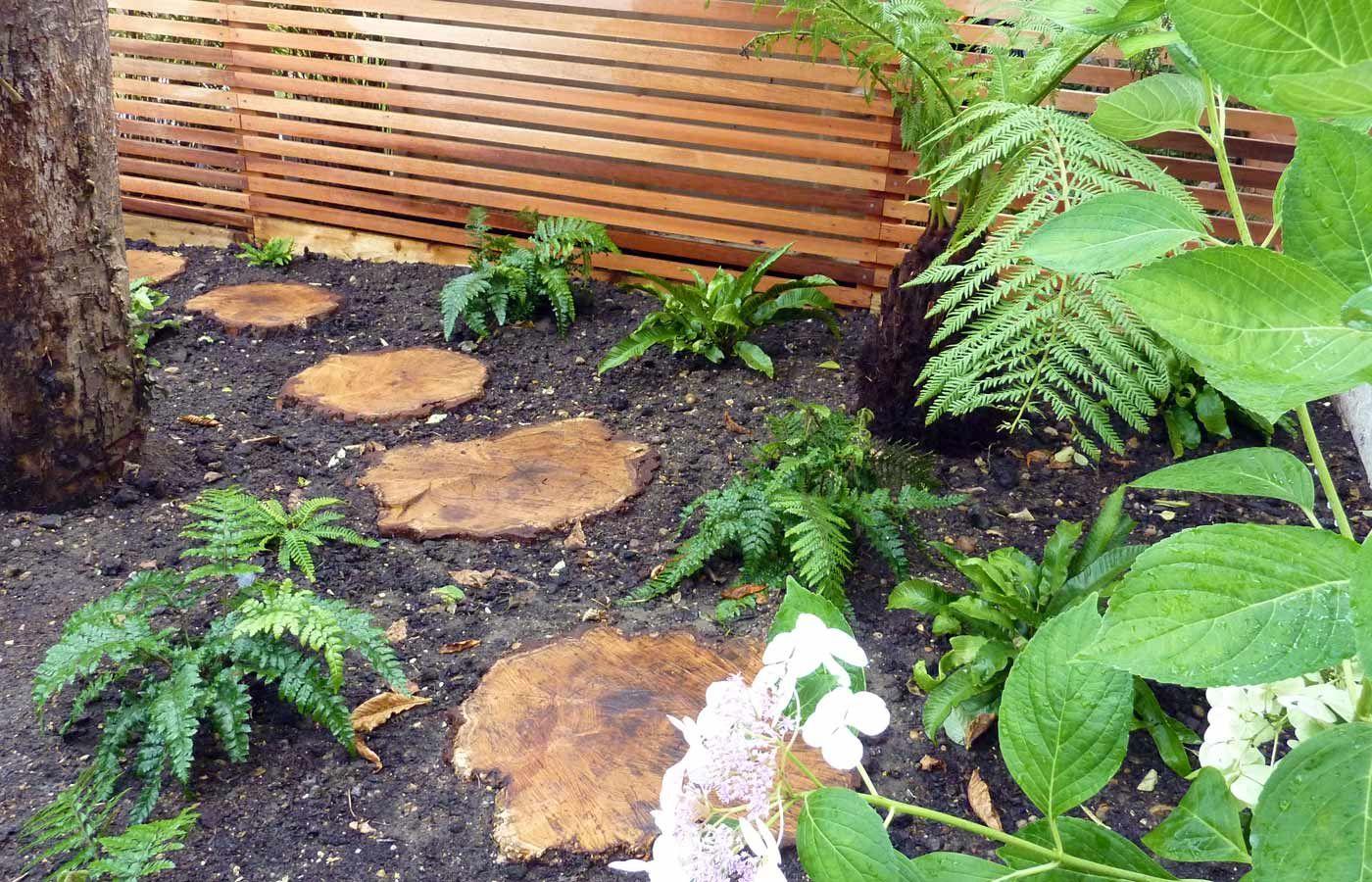 Wooden stepping stones detail view garden pinterest garden wooden stepping stones detail view workwithnaturefo