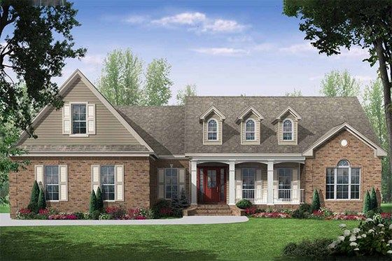 Southern Style House Plan 3 Beds 2 5 Baths 2000 Sq Ft Plan 21 218 Country Style House Plans Country House Plans House Plan Gallery