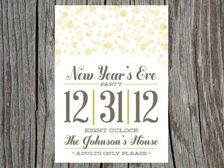 Polka Dot Style 2015 New Years Eve Printable Invitation ...