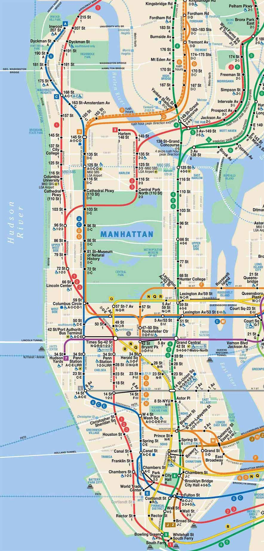 This is an image of Universal Printable Nyc Subway Maps