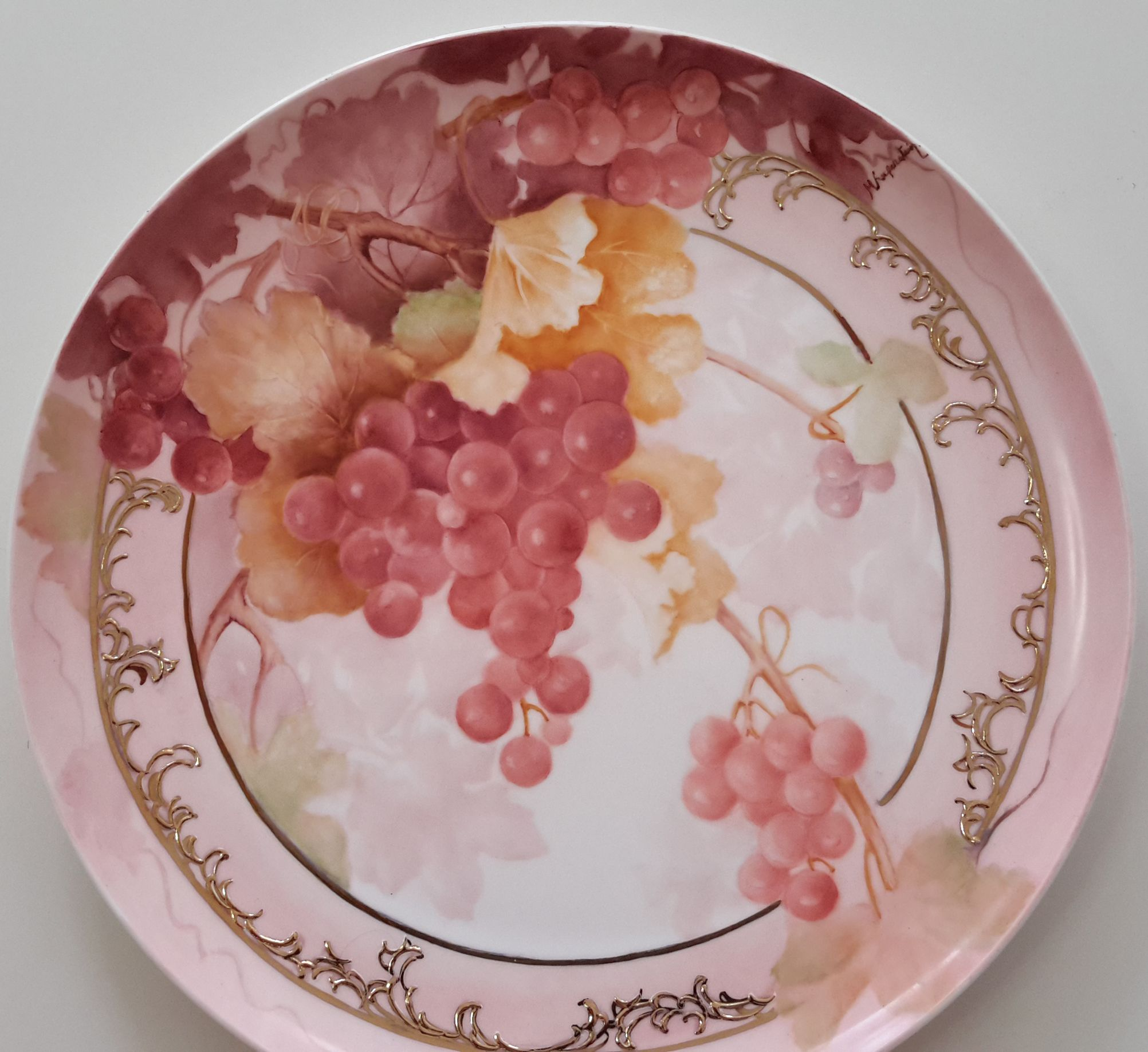 Grapes By Miriam Kuperstein Porcelain Painting Porcelain Art Pretty Plates