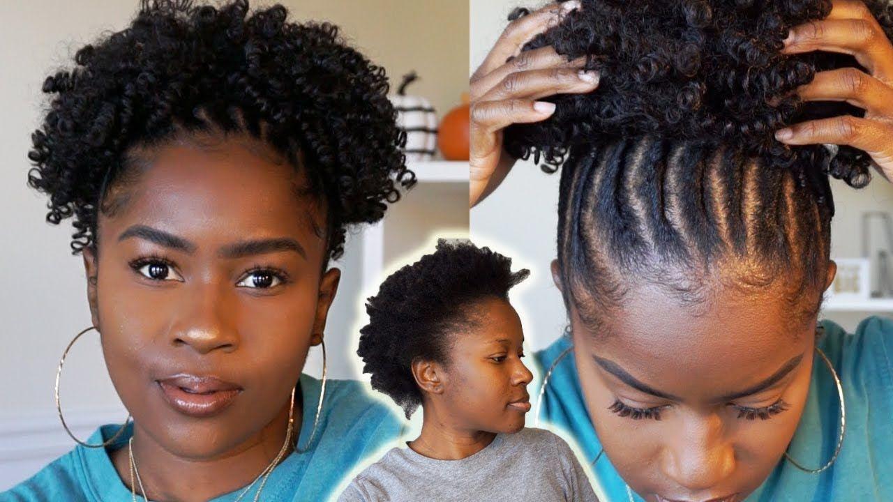 Beginner Friendly Flat Twist Curly Ponytail Style On Short 4c Natural Hair Mona B Youtube 4c Natural Hair Short Natural Hair Styles Natural Hair Styles