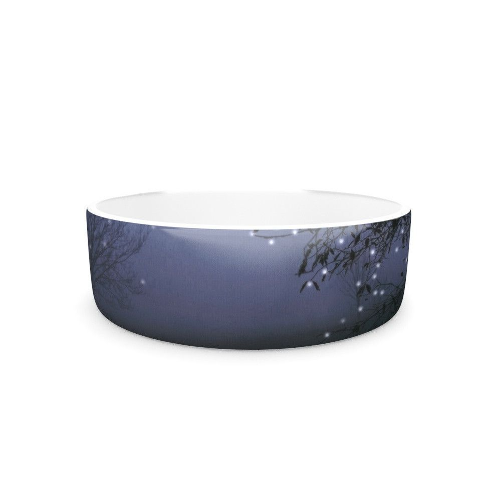 "Monika Strigel ""Song of the Nightbird"" Pet Bowl"