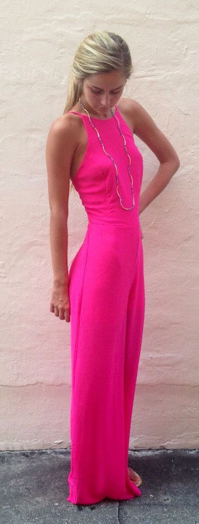 a672f1d6e88 Hot pink jumpsuit. I love!
