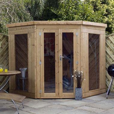 7x7 corner summerhouse - Corner Garden Sheds 7x7