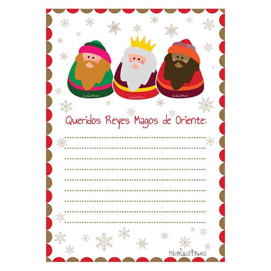Dias De Reyes Magos Descargar carta para los reyes magos - carta reyes magos - pdf