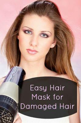 Hair Mask Recipe For Damaged Hair Hair Mask Recipe Hair Mask For Damaged Hair Damaged Hair
