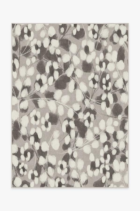 Ruggable Washable Rug Cover Pad Rosette Grey Rug Stain