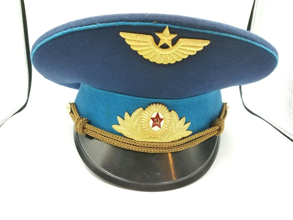 1ca6a9639c340 SOVIET AIR FORCE OFFICERS PEAKED CAP RUSSIAN AVIATION | #ebay items ...