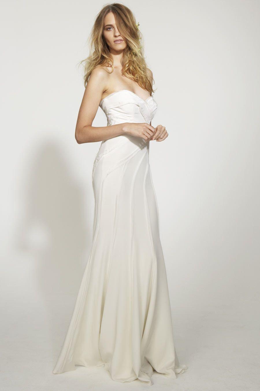 Excepcional Vestido De Boda En La Playa Nicole Miller Ideas ...