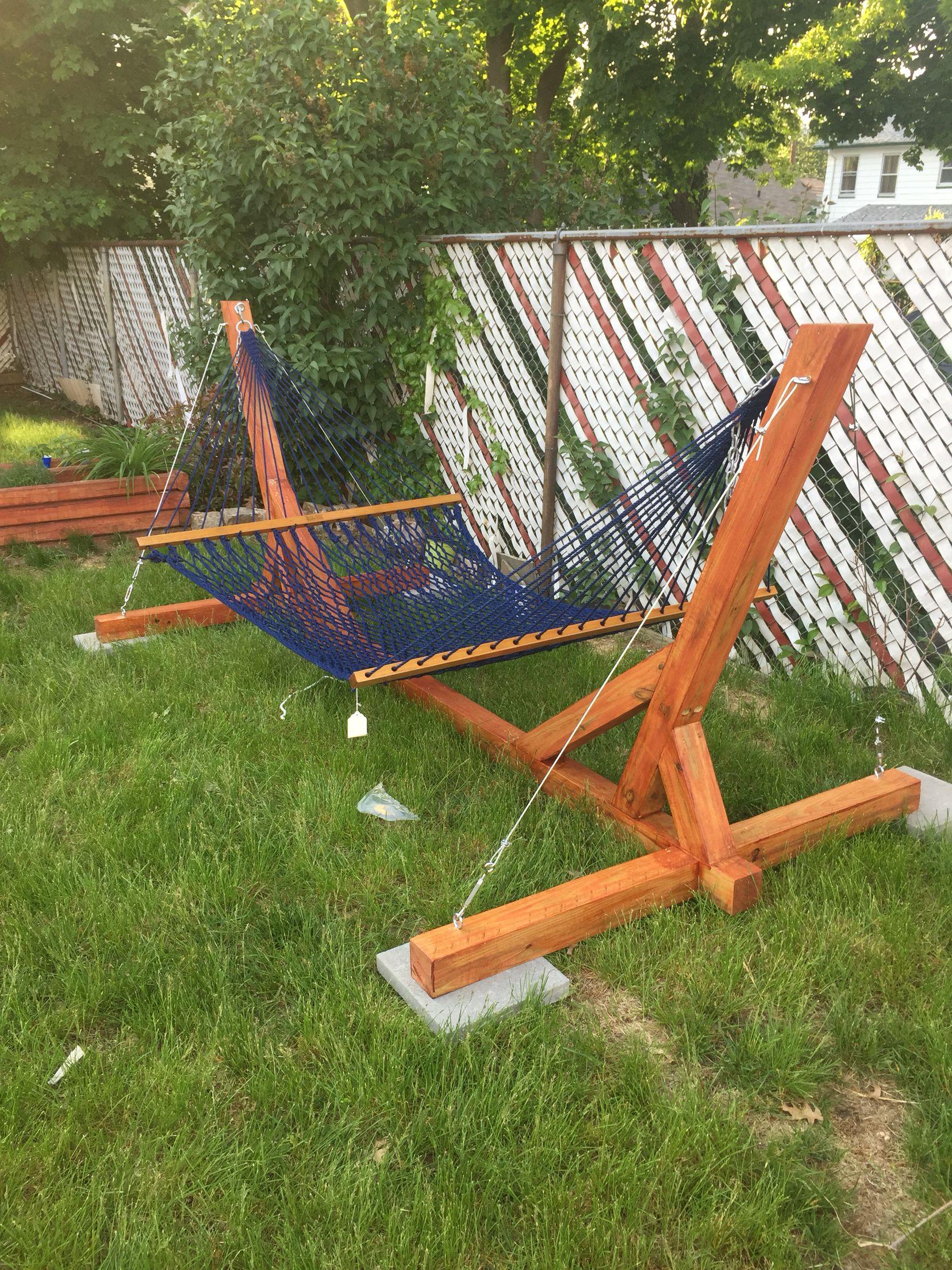 Diy Hammock Stand Plans Best Chair In 2020 Diy Hammock Backyard Hammock Diy Backyard